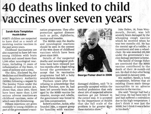 I Am A Research Nurse, I Am Going To Put This As Blunt As Possible, Don't Vaccinate, You Are Killing Your Children.
