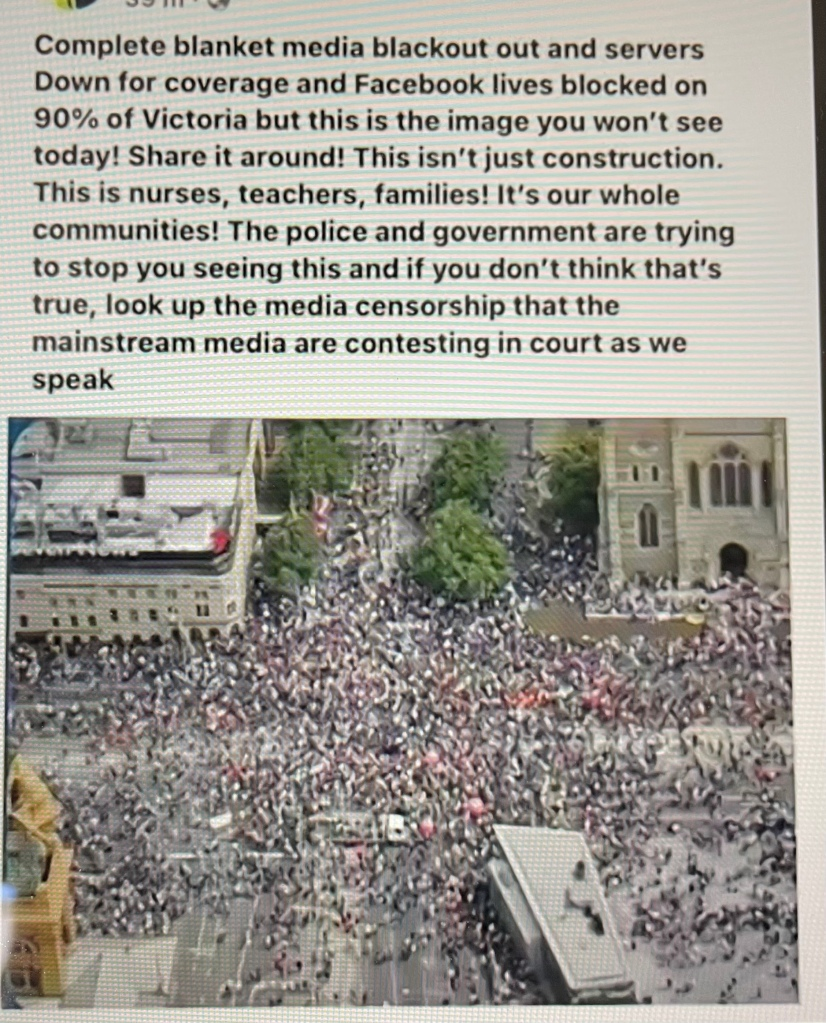Australian Govt Doubles Down, Escalates Censorship And Violence, Cell Towers Shut Down To Prevent People From Seeing The Size Of The Protests!! 745fd118-bb88-4a98-b69c-5783fbd21b6b
